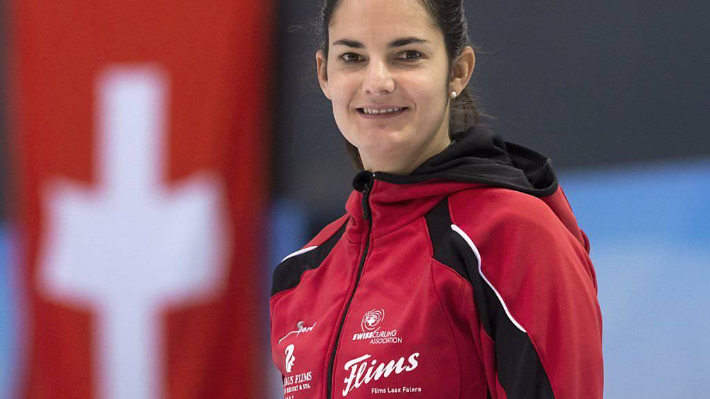Skip Binia Feltscher: Die zweifache Weltmeisterin will mit ihrem Team an die Winterspiele kommen