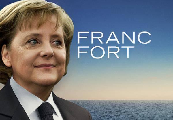 Merkel mit Krawatte