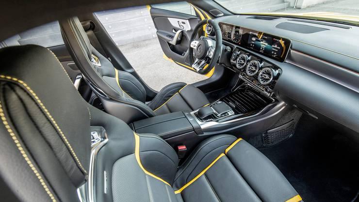 Die Innenansicht des pfeilschnellen Wagens. Bild: Mercedes