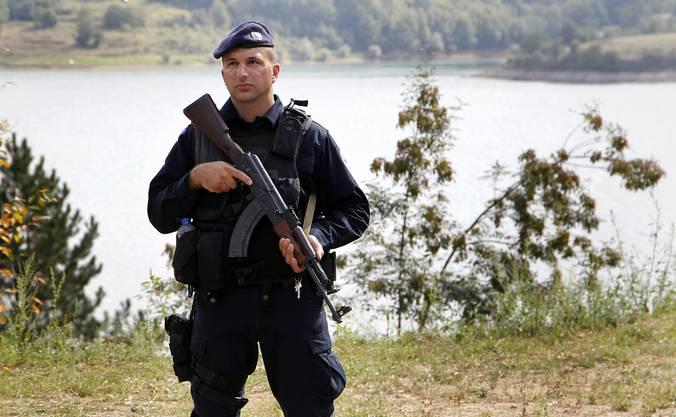 Hohe Sicherheitsvorkehrungen beim Kosovo-Besuch.