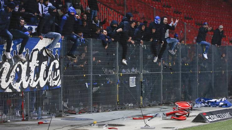 Schon im Spiel gegen Xamax haben die angeblichen GC-Fans gewütet.