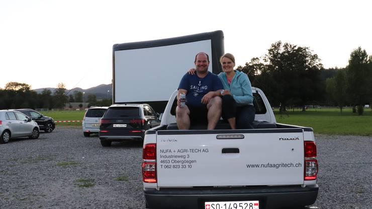 """Autokino """"Allianz drive in cinema"""" im Aarauer Schachen"""
