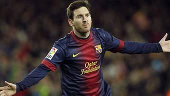 Lionel Messi ist nunmehr bei 91 Toren im Jahr 2012 angelangt.
