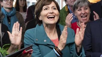 Grünen-Präsidentin Regula Rytz konnte sich am Wahlsonntag alle paar Minuten über eine Erfolgsmeldung freuen.