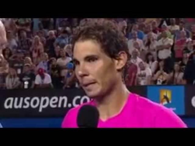 On-Court-Interview: Rafael Nadal nach dem Spiel gegen Tim Smyzeck