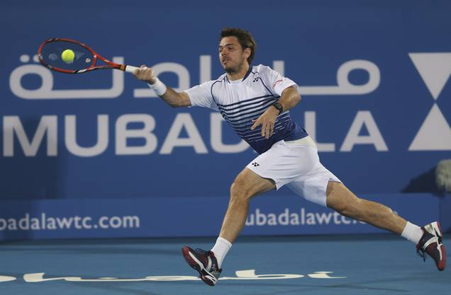 Stan Wawrinka am Mubadala World Tennis Championship in Abu Dhabi, 1. Januar 2015