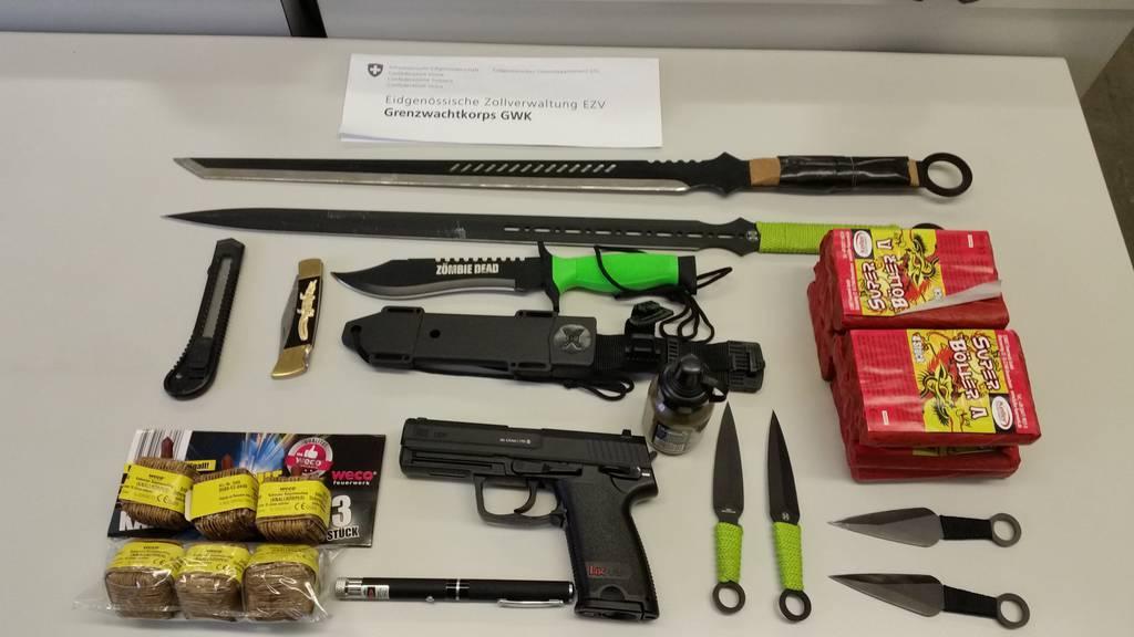 Foto der sichergestellten Gegenstände