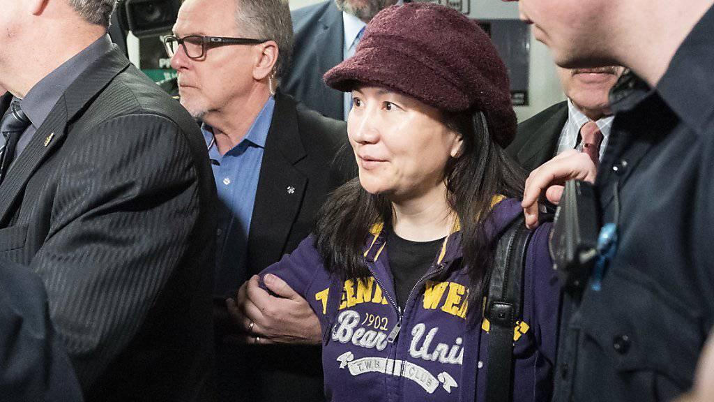 Die politischen Spannungen zwischen China und Kanada nach der Verhaftung der Huawei-Finanzchefin Meng Wanzhou (im Bild) könnten durch ein chinesisches Todesurteil gegen einen kanadischen Staatsbürger  neu angefacht werden. (Archivbild)