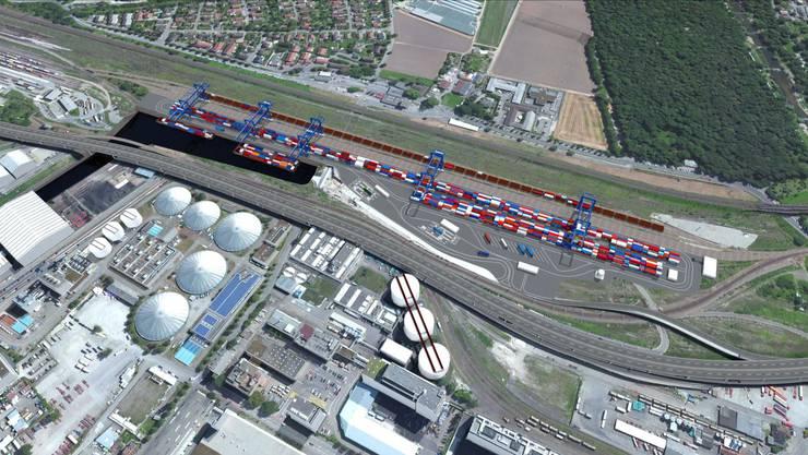 Geht alles nach Plan, kann das Hafenbecken 3 in rund fünf Jahren in Betrieb genommen werden.