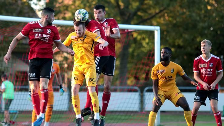 Alles nur Kopfsache: In der 1. Liga begeistert der SV Muttenz mit einem überraschenden 2:1-Heimsieg über Leader Delémont.
