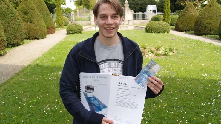 Er ist froh, dass alles gut gelaufen ist: Robin Schnider aus Hägglingen. (Bild: aw)