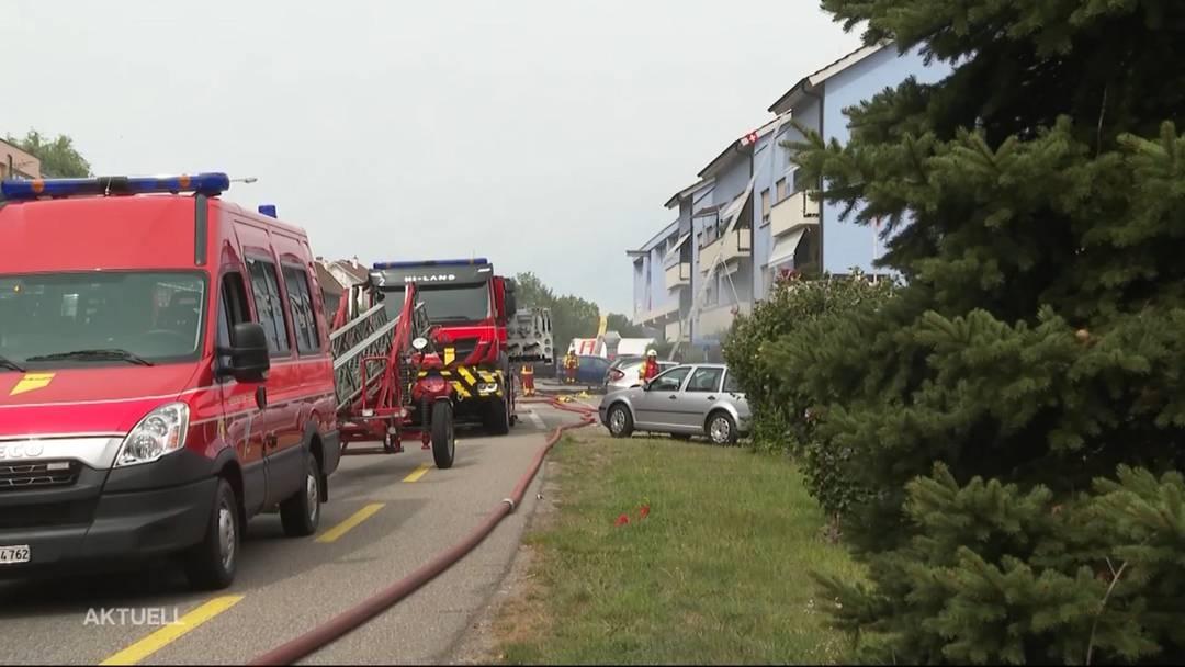Turgi: Brand im Mehrfamilienhaus