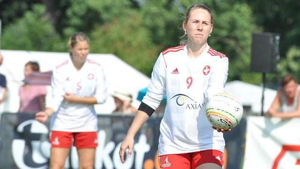 Michelle Fedier (am Ball) war eine der Leistungsträgerinnen im Schweizer Nationalteam. Andreas Hörner