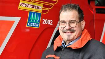 Hauptmann Thomas Herber hat fast vier Jahrzehnte Feuerwehrdienst geleistet und ist auch Vater die hiesigen Jugendfeuerwehr.