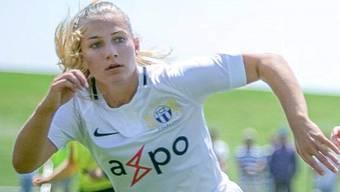 Leandra Flury (hier noch im FCZ-Trikot) begann als 5-Jährige beim FC Niederweningen und spielt seit August in den USA. Bild: zvg