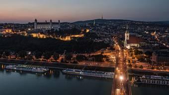 In Bratislava wird kräftig gebaut.
