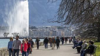Rund zweieinhalb Monate war das Wahrzeichen von Genf ausser Betrieb: Der 140 Meter hohe Jet d'eau.