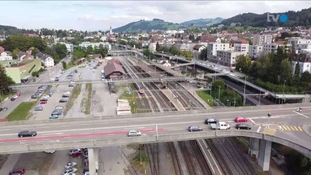 Neues im Osten: Bahnhof St.Fiden soll überdeckt werden