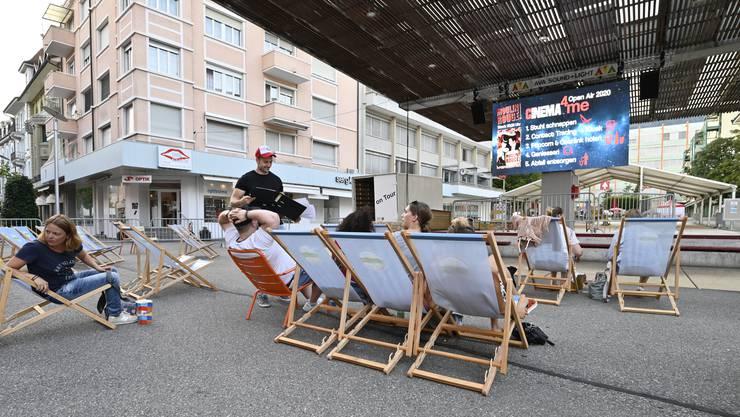 Auf dem Zytplatz gibt es auch in Zeiten der Pandemie Filme à la carte.
