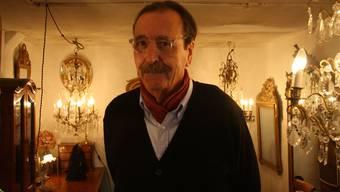 Silvan Götz ist bekannt als Spezialist für antike Leuchter.