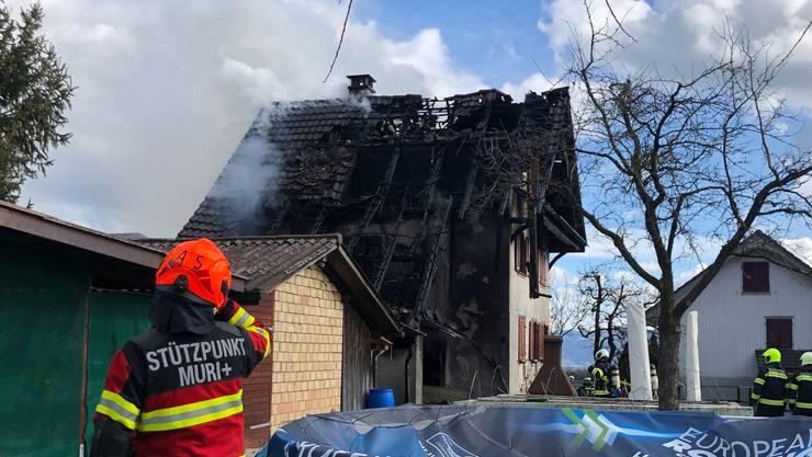 Brand in Abtwil: Das Haus ist nicht mehr bewohnbar.
