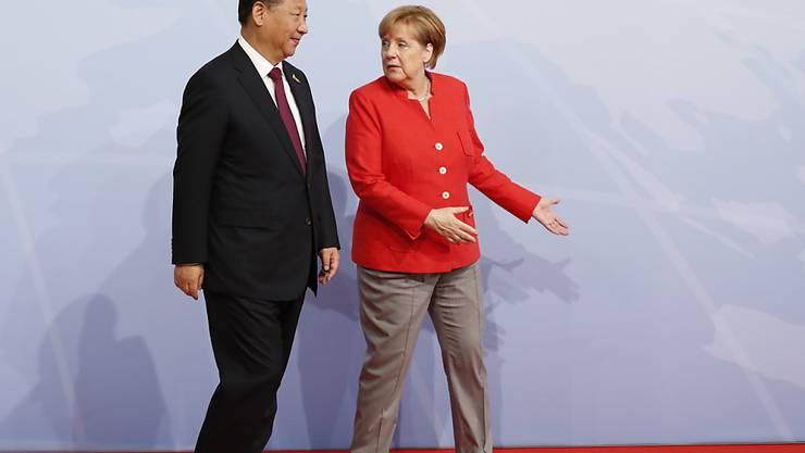 Die deutsche Kanzlerin Angela Merkel und Chinas Präsident Xi Jinping. (Archivbild)