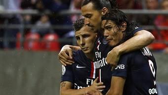 Zwei Treffer zum Saisonstart für Zlatan Ibrahimovic (m.)
