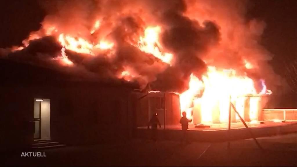 Turnhallen-Brand in Holderbank wirft weiter Fragen auf