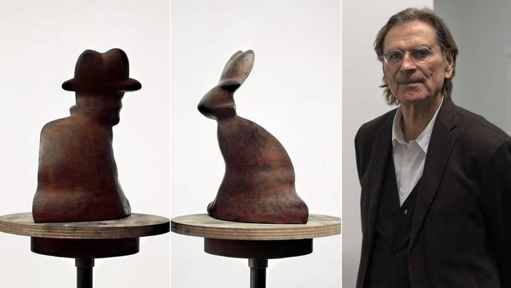 Augentäuscherei vom Feinsten – oder eine Plastik hat (mindestens) zwei Seiten. Ein Mann ist bei Markus Raetz auch ein Hase.