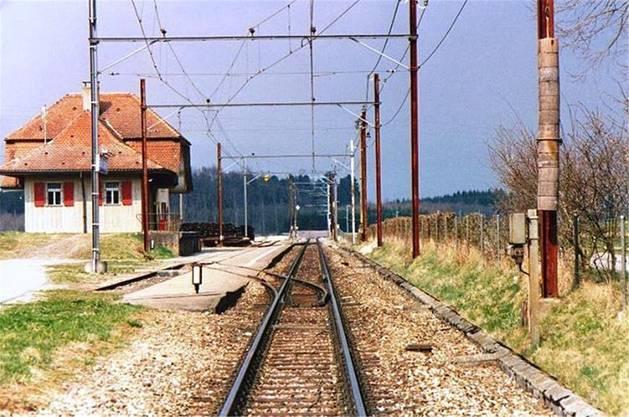 Idylle beim Bahnhof in Büren zum Hof.