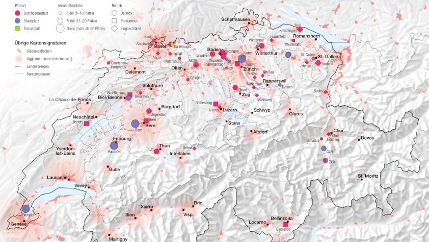 Halteplätze für Fahrende in der Schweiz