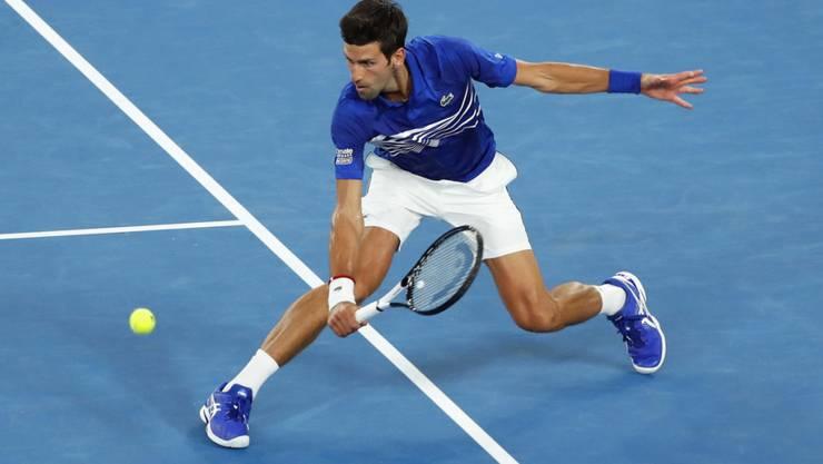 Souveräner Auftritt in der Rod Laver Arena: Novak Djokovic