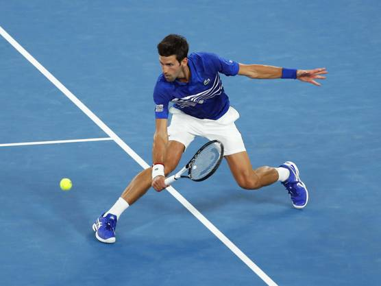 Fast kampflos im Halbfinal: Novak Djokovic
