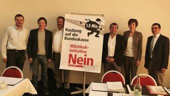 Selten waren sich Politiker so einig: V.l.n.r.: Bernhard Guhl, Jonas Fricker, Beat Flach, Jürg Caflisch, Ruth Humbel, Matthias Jauslin