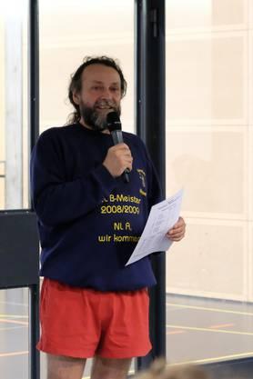 Organisator Pascal Barrière bei der Rangverkündigung