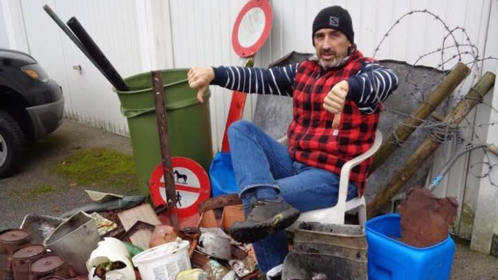 Abfall-Sammler Marco Agostini durchstreifte wieder die Baselbieter Wälder.