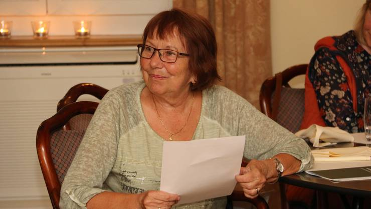 Die ehemalige Präsidentin Erika Anliker amtet als Tagespräsidentin