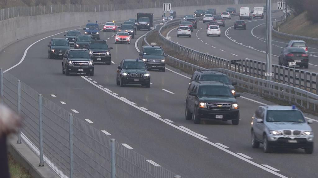 Mit 37 Autos durchs FM1-Land: So war Trumps Heimreise