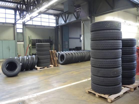 Bis zu 160 Reifen werden in dieser Woche gewechselt
