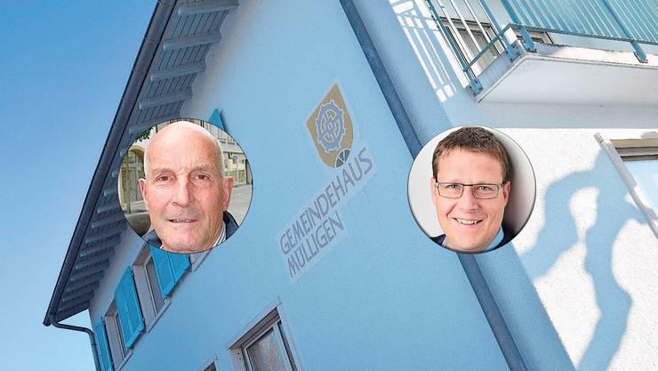 Diese zwei Kandidaten möchten in den Gemeinderat Mülligen.