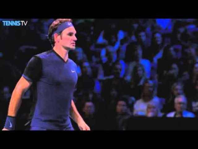 Hot Shot: Im Spiel gegen Berdych blühte Federer auf.