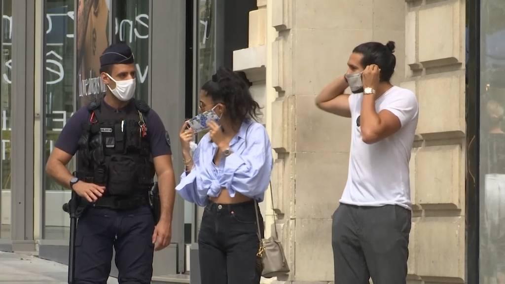 In Frankreich wächst der Druck zur Verschärfung der Maskenregeln