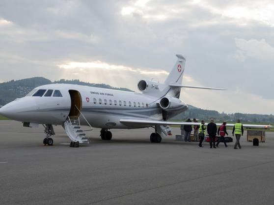 Der eigentliche Bundesratsjet - eine Dassault Falcon 900 EX.