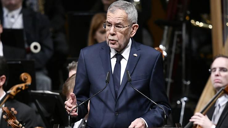 """Bundespräsident Alexander Van der Bellen sprach den Österreichern im Rahmen eines Staatsaktes zu """"100 Jahre Republik Österreich"""" ins Gewissen."""