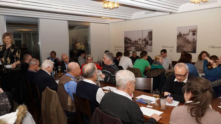Erfreulich viele Besucher fanden den Weg an die Generalversammlung der SJMD.
