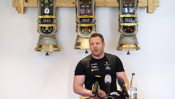 In Hasliberg gibt Glarner seinen Rücktritt vom Schwingsport bekannt.