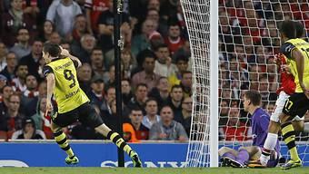 Robert Lewandowski schoss Dortmund zum Auswärtssieg gegen Arsenal