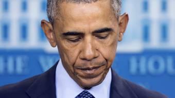 US-Präsident Barack Obama nimmt Stellung zur Schiesserei in Florida.