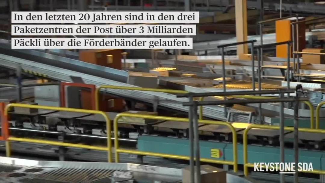 Zu Besuch im Paketzentrum der Post in Härkingen