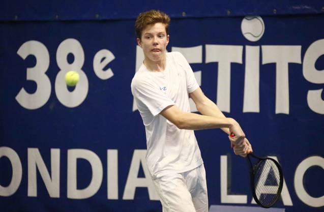 Janis Simmen aus Lenzburg ist der einzige N-Spieler in der U14-Kategorie.